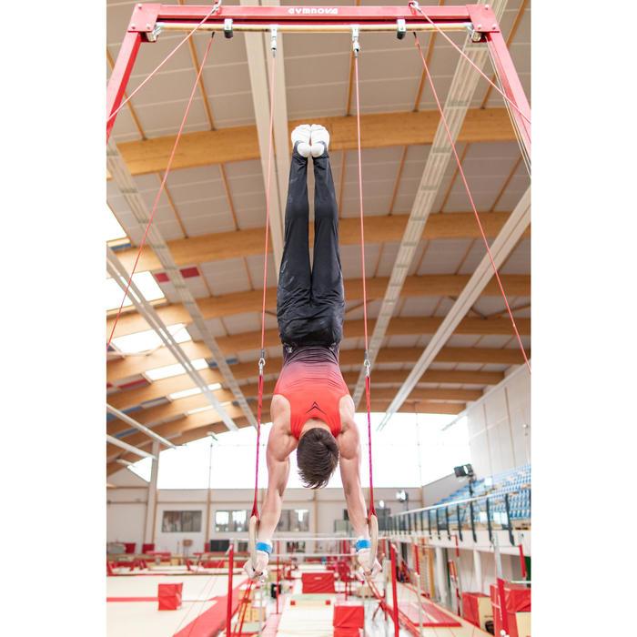 Léotard Gymnastique Artistique Masculine Rouge / Noir
