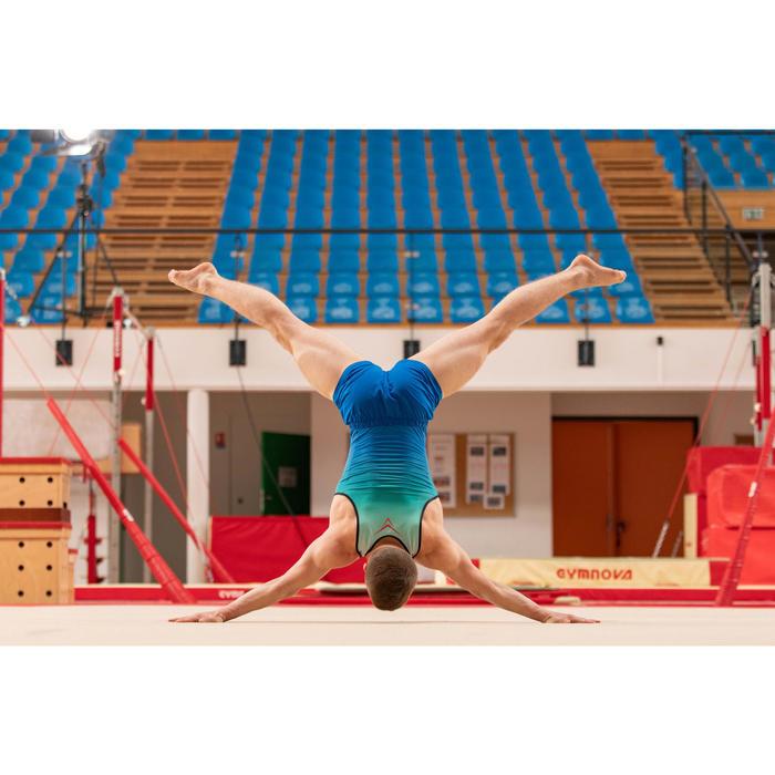 Leotardos Gimnasia Artística Masculina azul/turquesa