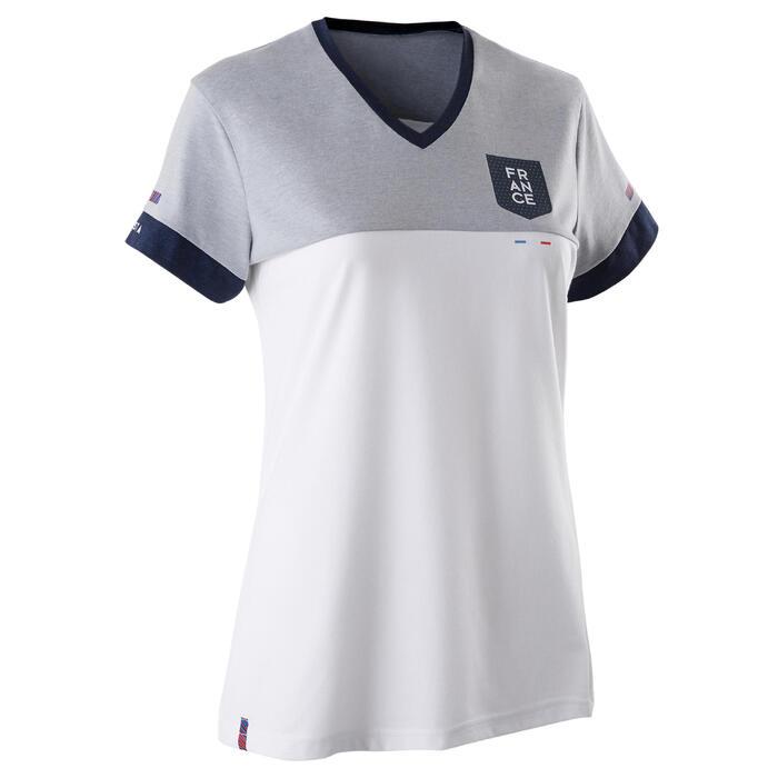 Fussballshirt FF100 Frankreich Damen weiß