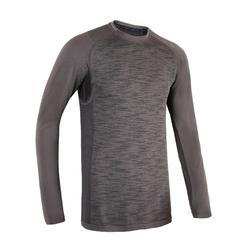 有氧健身訓練長袖T恤FTS 500-刷色灰