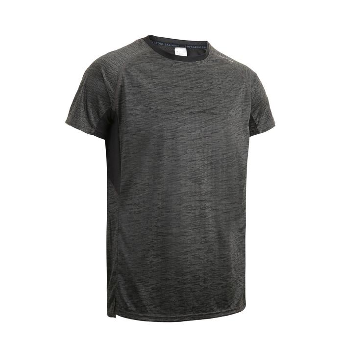 FTS 120 Fitness Cardio Training T-Shirt - Grey/Black