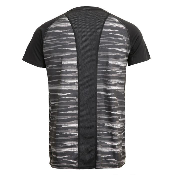 FTS 120 Fitness Cardio Training Slub T-Shirt - Black/Grey Print