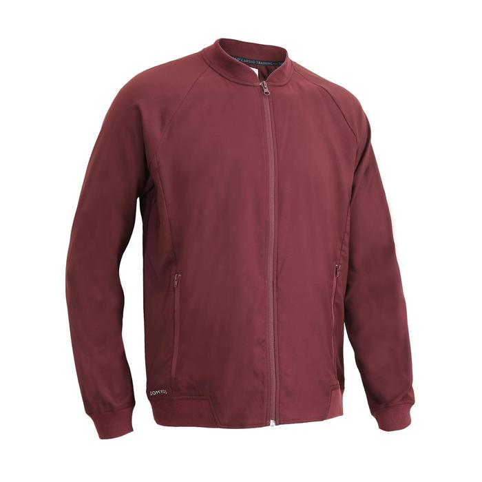 FVE 100 Fitness Cardio Training Jacket - Burgundy