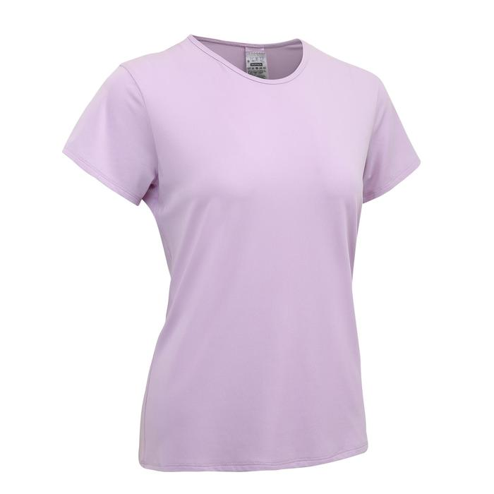 100 Women's Cardio Fitness Training T-Shirt - Violet