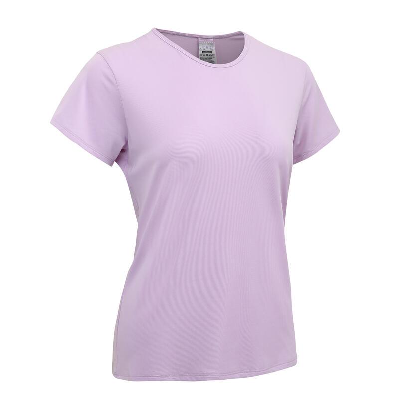 女款有氧健身訓練T恤100-紫色