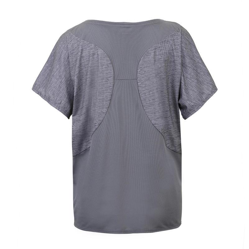 เสื้อยืดผู้หญิงสำหรับการออกกำลังกายแบบคาร์ดิโอรุ่น 120 (สีเทา Mottled Grey)