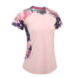 500 Women's Fitness Cardio Training T-Shirt - Pale Pink