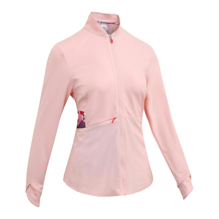 500 Women's Fitness Cardio Training Jacket - Pale Pink Print
