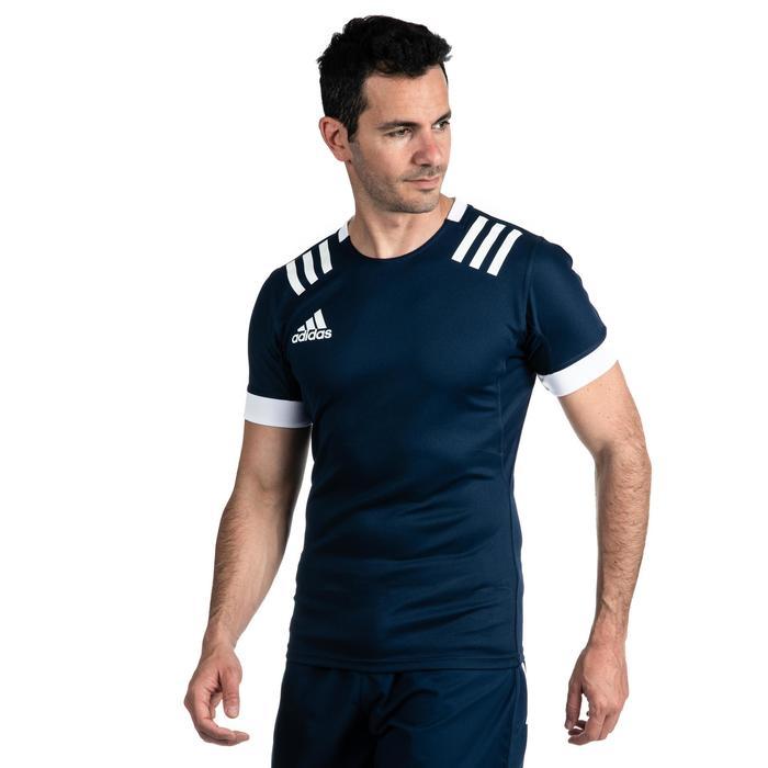 Maillot de rugby 3S homme Bleu Adidas