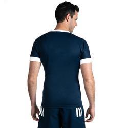 Rugbyshirt voor heren 3S blauw Adidas