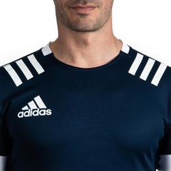 Camiseta Rugby Adidas 3S Hombre Azul