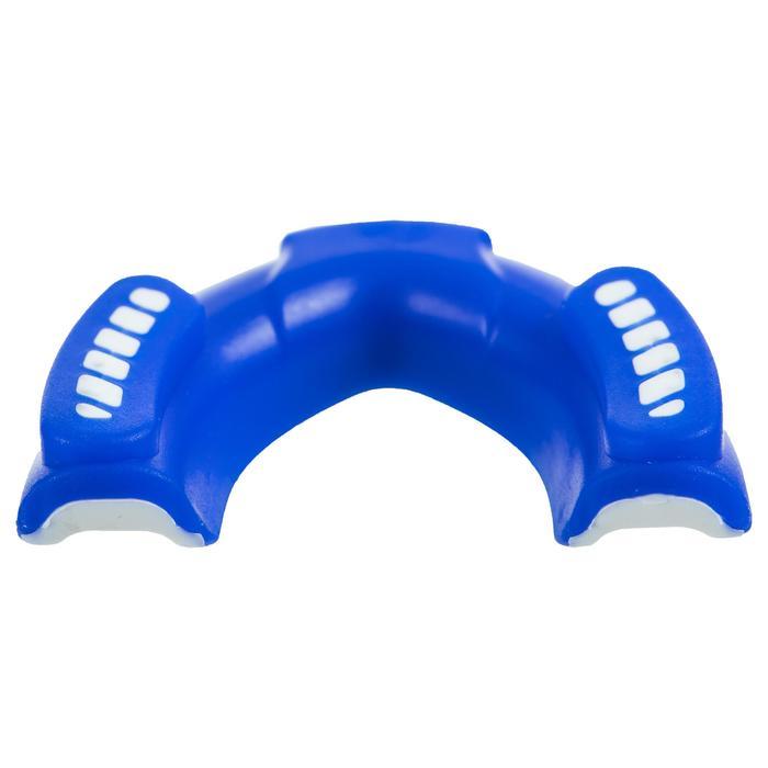 Orthodontisch rugbybitje voor volwassenen blauw/wit