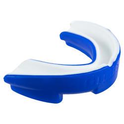 Orthodontisch rugbybitje blauw/wit