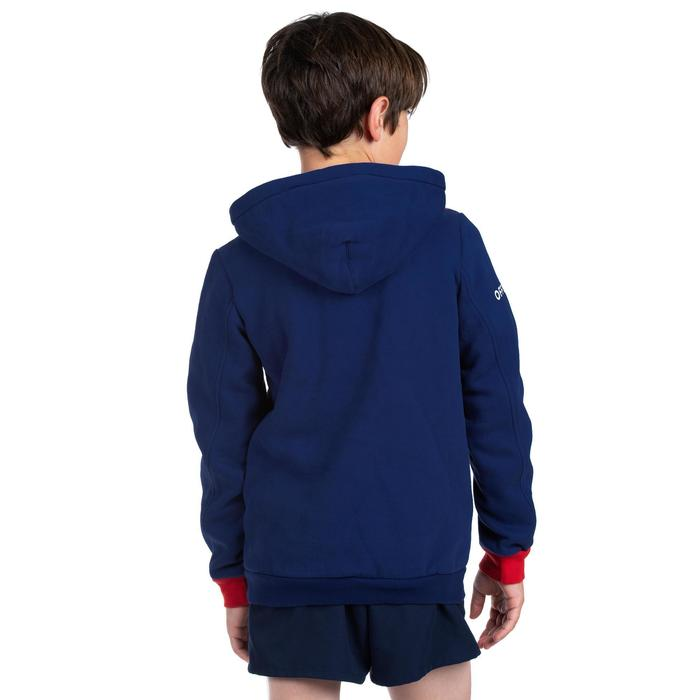 Sweat à capuche (hoodie) supporter France 2019 junior bleu