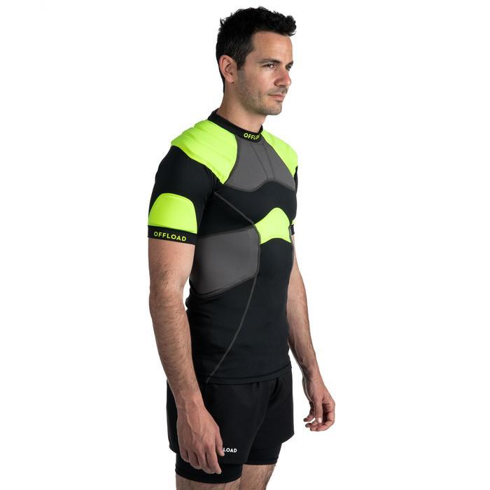 Shoulderpad voor volwassenen R100 zwart/geel