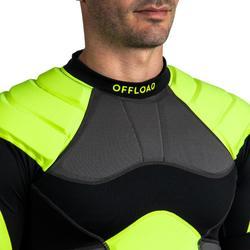 Rugby-Schulterschutz R100 Herren schwarz/gelb