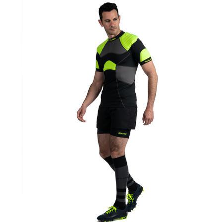Hombrera de Rugby Offload R100 Adulto Negro y Amarillo