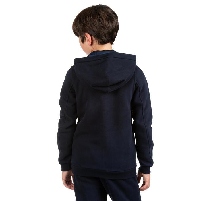 Gemoltoneerde hoodie voor rugby kinderen Club R500 met rits blauw
