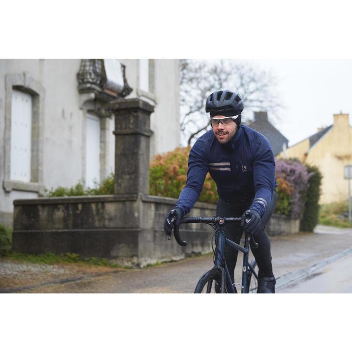 Fahrrad Regenjacke Rennrad RC 500 Herren marine
