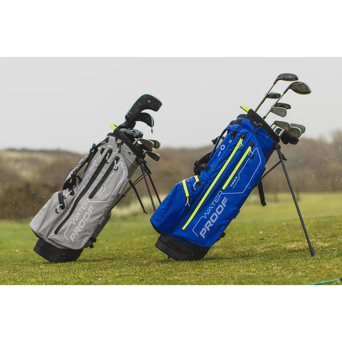 SAC de GOLF TREPIED WATERPROOF BLEU/JAUNE