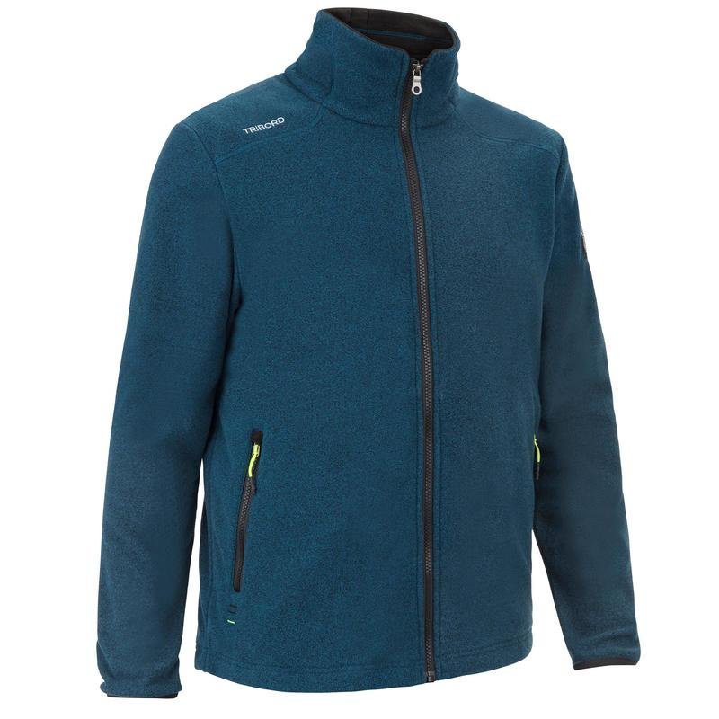 Warme fleece voor zeilen heren Sailing 100 petrol
