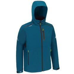 Softshell jas heren voor wedstrijdzeilen petrolblauw