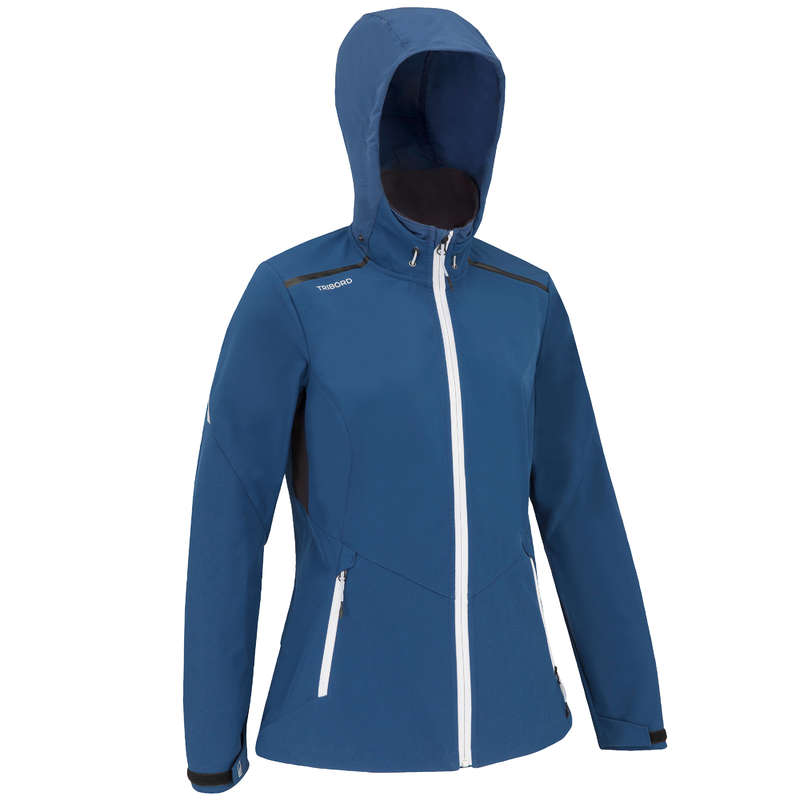 REGATTA COLD WEATHER WOMAN CLOTHES Sailing - F RACE SOFTSHELL DARK BLUE TRIBORD - Sailing Clothing