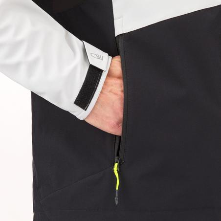Чоловіча куртка для вітрильних перегонів, із софтшелу - Сіра/Чорна