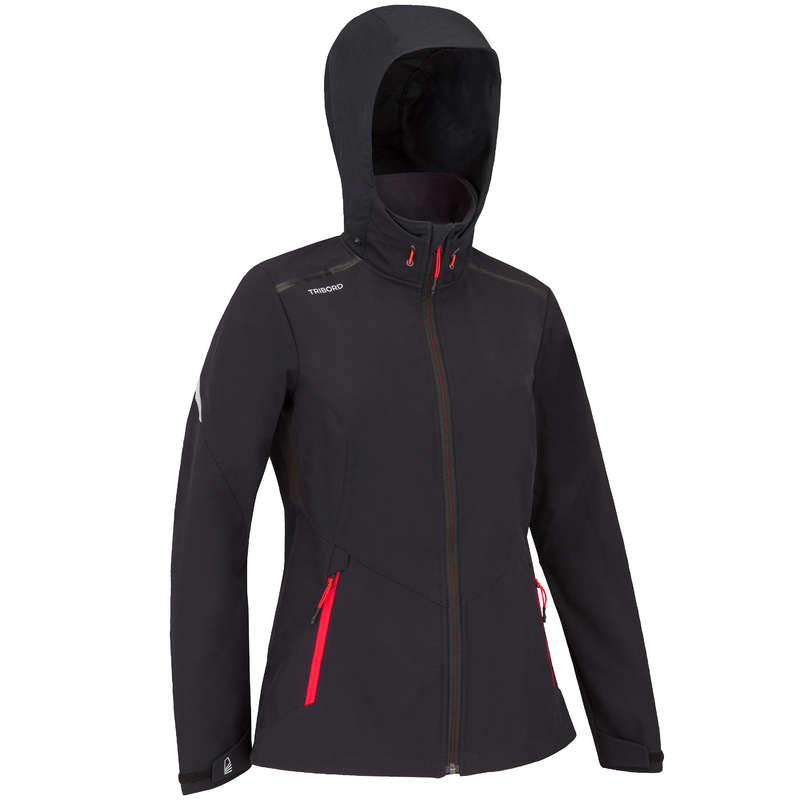 Pile e softshell donna Sport Acquatici - Softshell RACE nero TRIBORD - DONNA VELA
