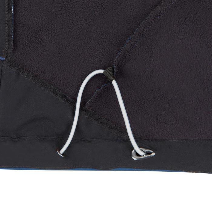 Softshell jas voor wedstrijdzeilen heren grijs/zwart