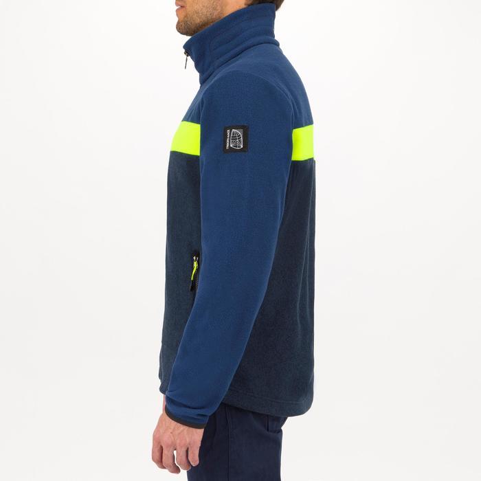 Forro polar RACE azul/amarillo de regata en barco para hombre