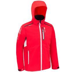 男款帆船競賽軟殼外套-紅色