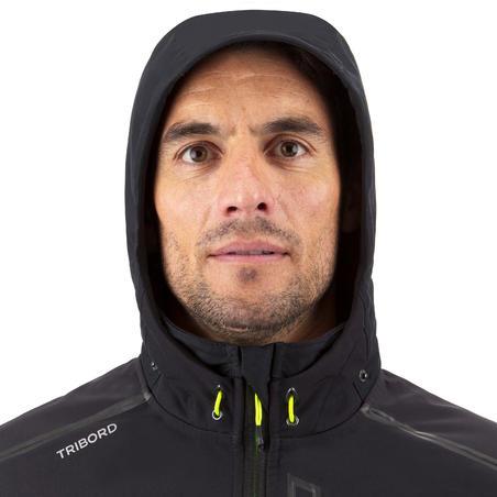 Чоловіча куртка для вітрильних перегонів, з софтшелу - Чорна