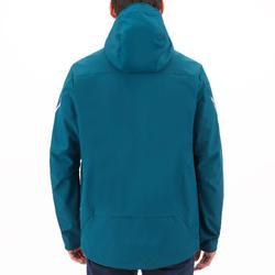 Softshell jas voor wedstrijdzeilen heren petrolblauw