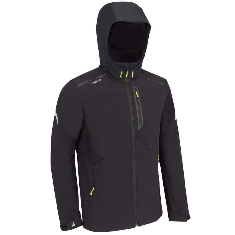 REGATTA COLD WEATHER MAN CLOTHES Sailing - MEN'S SOFTSHELL RACE - BLACK TRIBORD - Sailing Clothing