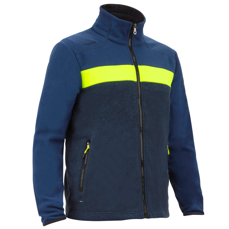 MAN SAILING FLEECE SOFTSHELL - Men's Race Fleece Blue Yellow TRIBORD