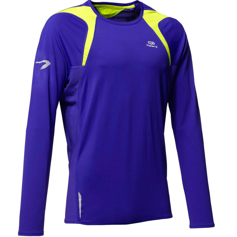 Men's Kiprun Running Jersey - blue yellow