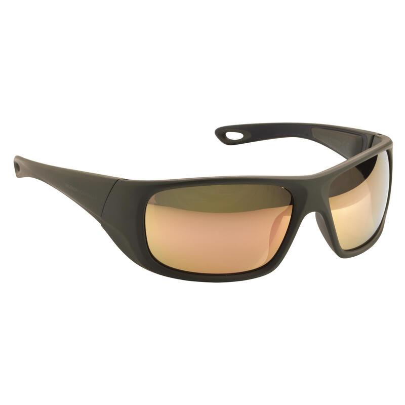 Kid's polarising fishing eyewear SKYRAZER 500 - khaki