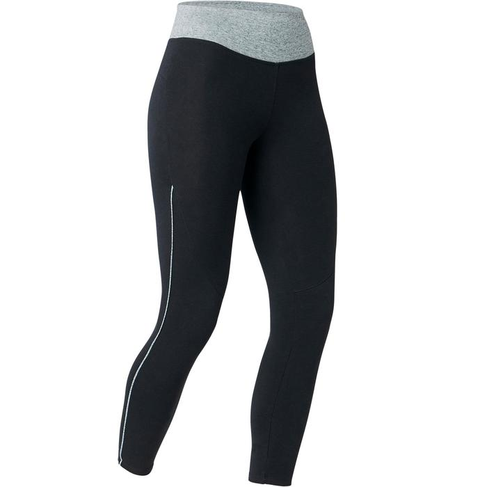 7/8-Leggings 510 Gym & Pilates Damen schwarz/grau