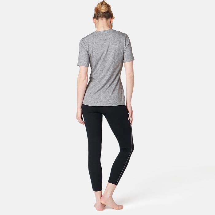 7/8-Leggings 510 Pilates & sanfte Gymnastik Damen schwarz/grau