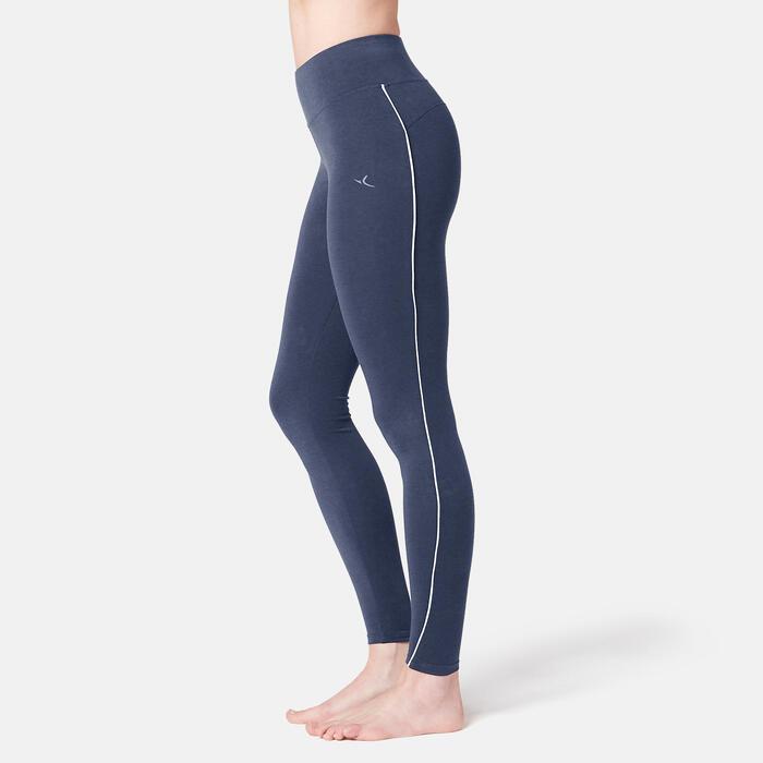 Fitnesslegging dames 510 slim fit blauw/roze