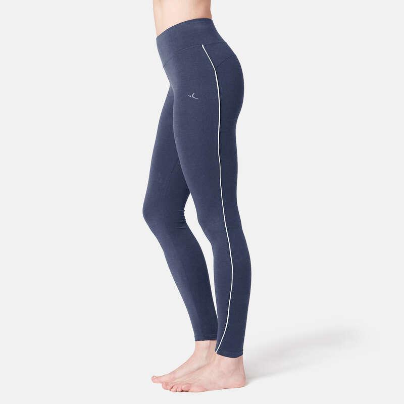 WOMAN T SHIRT LEGGING SHORT - 510 Piped Gym 7/8 Leggings DOMYOS