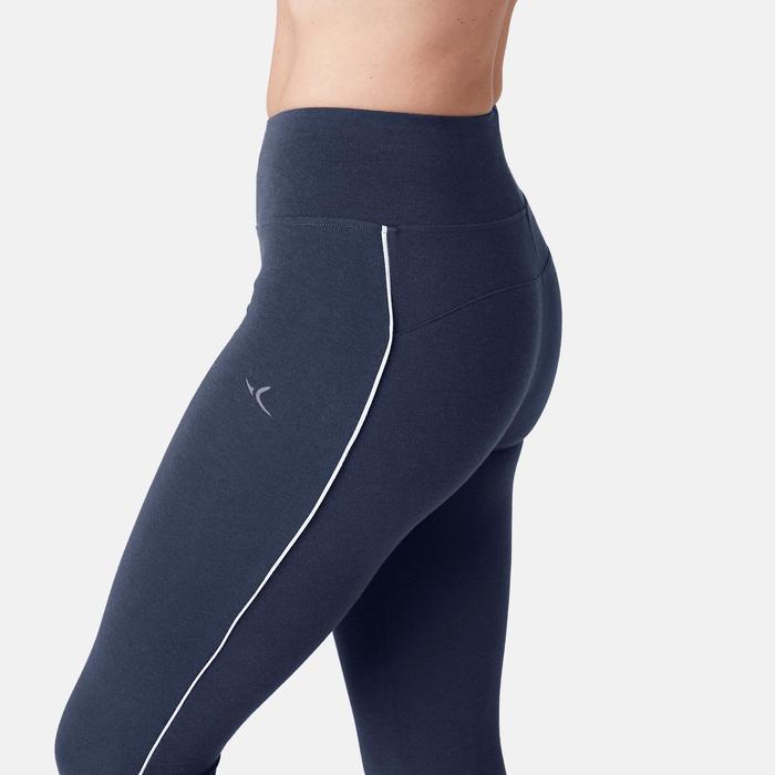 Legging 510 slim Fitness femme bleu/rose