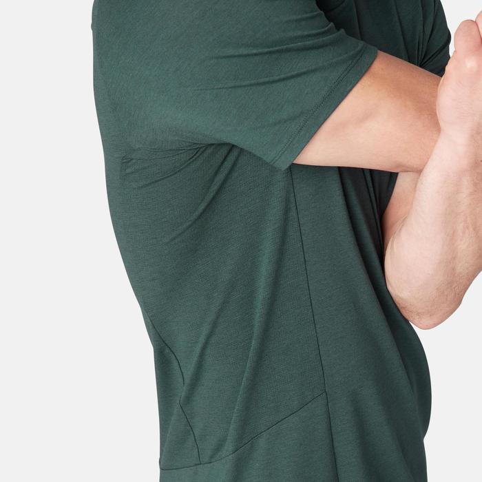 Camiseta Manga Corta Gimnasia Pilates Domyos 560 Hombre Verde
