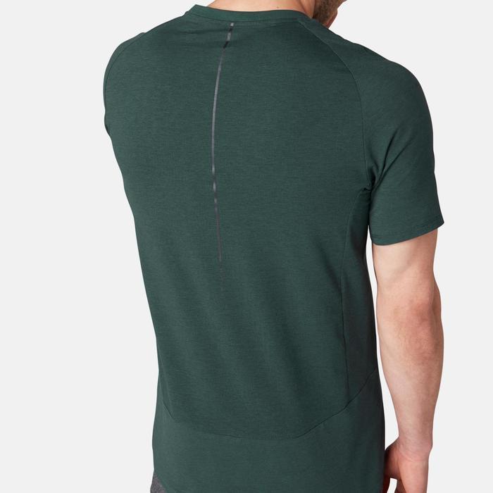 T-shirt voor pilates/lichte gym heren 560 donkergroen