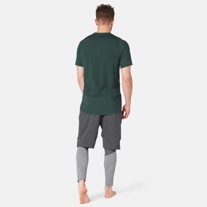 T-Shirt 560 Pilates Gym douce homme vert foncé