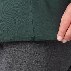 Camiseta 560 Pilates y Gimnasia suave hombre verde oscuro