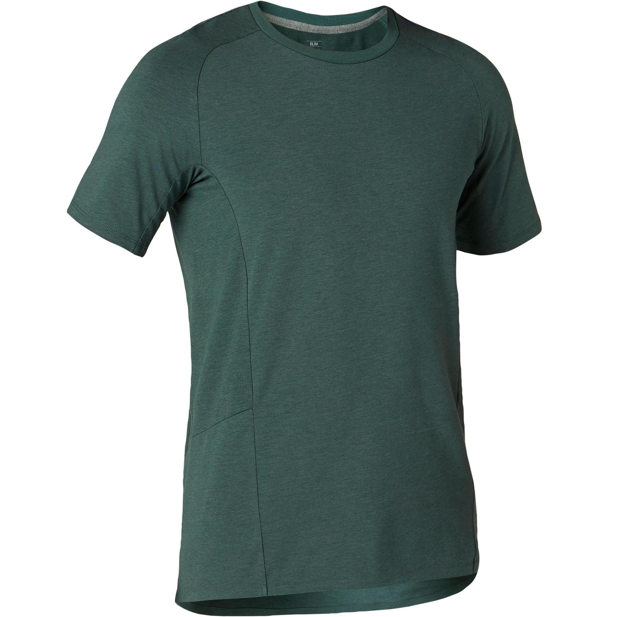 T-Shirt560 Gym & Pilates Herren dunkelgrün | Sportbekleidung > Sportshirts > Poloshirts | Grün | Domyos