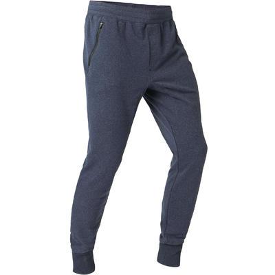 Pantalon de jogging homme skinny 500 bleu