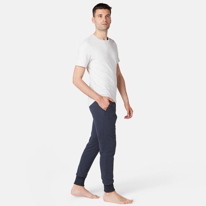Joggingbroek 500 voor heren skinny fit blauw